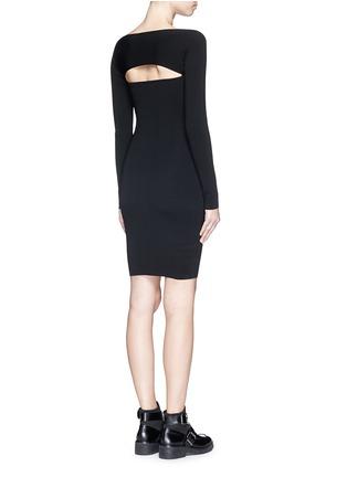 背面 - 点击放大 - T BY ALEXANDER WANG - 挖空设计一字领连衣裙