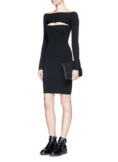 T BY ALEXANDER WANG Cutout stretch knit bandeau dress
