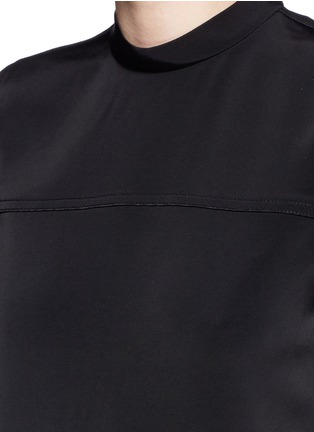 Detail View - Click To Enlarge - T By Alexander Wang - Band collar stretch faille dress