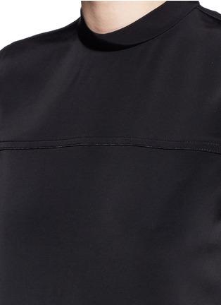 细节 - 点击放大 - T BY ALEXANDER WANG - 车缝线装饰半高领连衣裙