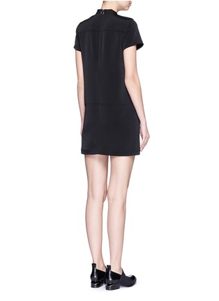 Back View - Click To Enlarge - T By Alexander Wang - Band collar stretch faille dress