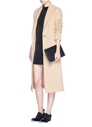 模特儿示范图 - 点击放大 - T BY ALEXANDER WANG - 车缝线装饰半高领连衣裙