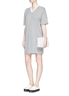 T BY ALEXANDER WANG Sandwashed piqué T-shirt dress