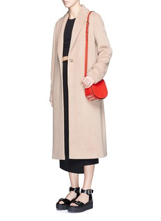 T BY ALEXANDER WANG Shawl collar mohair blend coat