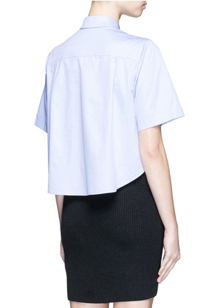 Back View - Click To Enlarge - T By Alexander Wang - Cotton poplin shirt