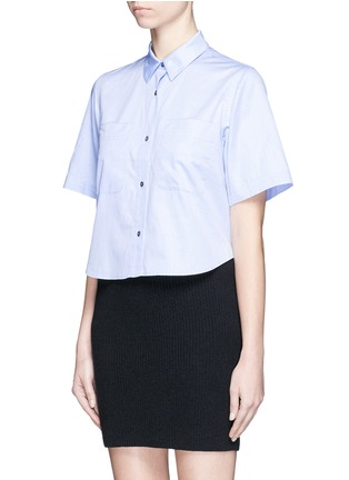 Front View - Click To Enlarge - T By Alexander Wang - Cotton poplin shirt