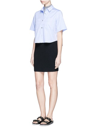 Figure View - Click To Enlarge - T By Alexander Wang - Cotton poplin shirt
