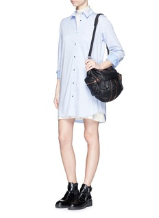 T BY ALEXANDER WANG Point collar cotton poplin shirt dress