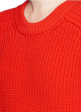 Detail View - Click To Enlarge - T By Alexander Wang - Oversize cotton blend cable knit sweater