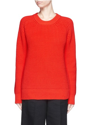 Main View - Click To Enlarge - T By Alexander Wang - Oversize cotton blend cable knit sweater