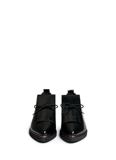 FABIO RUSCONIBrushed leather kiltie Oxfords