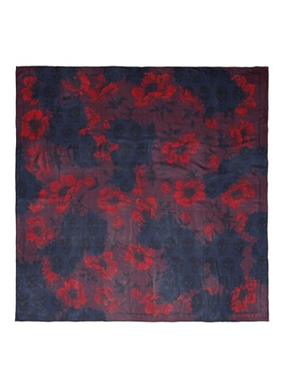 Main View - Click To Enlarge - Alexander McQueen - 'Decay Floral Skull' silk chiffon scarf