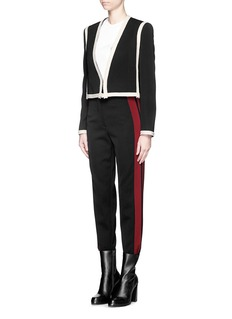 LANVIN Side stripe high waist cropped pants