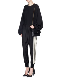 LANVIN Corded ribbon stripe wool pants