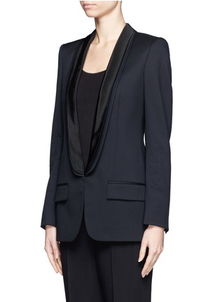 Front View - Click To Enlarge - Stella McCartney - Triple shawl lapel tuxedo jacket