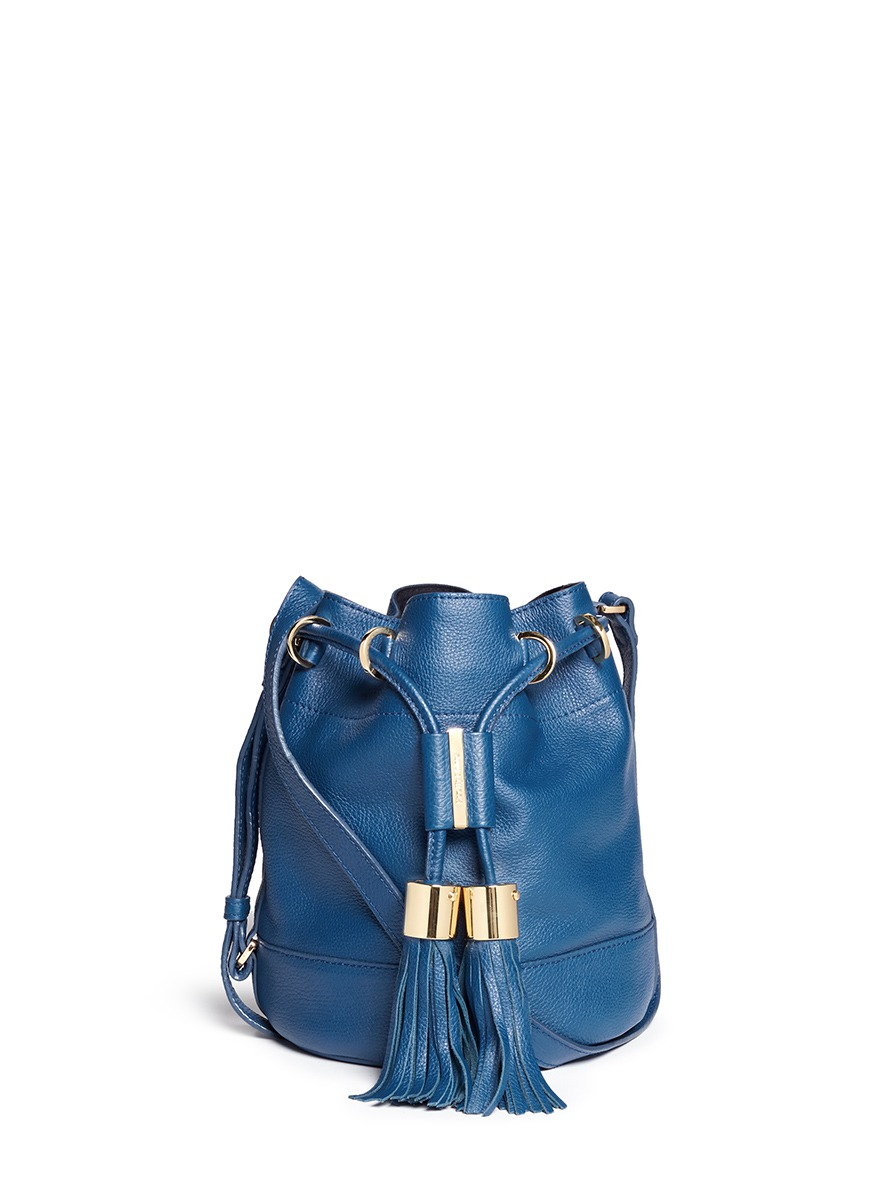 cheap chloe bags uk - SEE BY CHLO�� - \u0026#39;Vicki\u0026#39; small leather bucket bag - on SALE | Blue ...