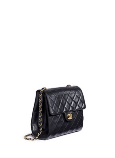 Vintage Chanel Quilted lambskin leather flap bag