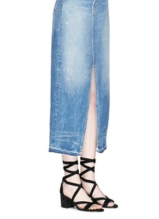 Sam Edelman'Sheri' ankle tie block heel suede sandals