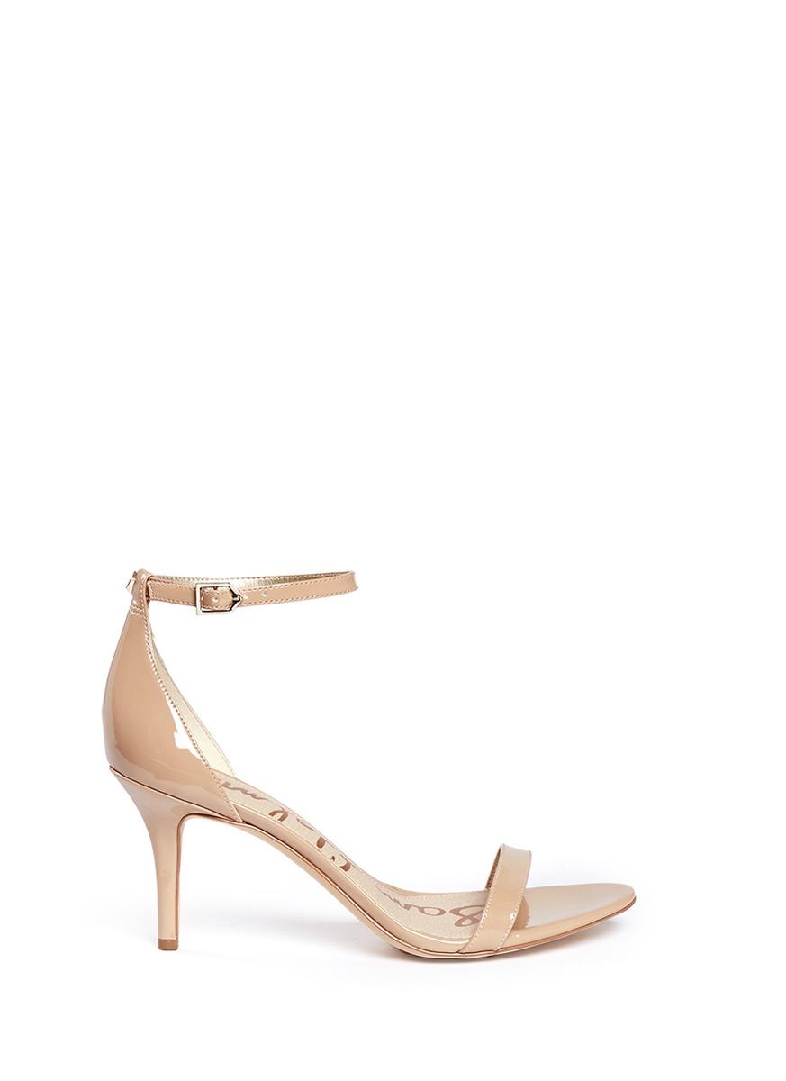Patti faux patent leather sandals by Sam Edelman