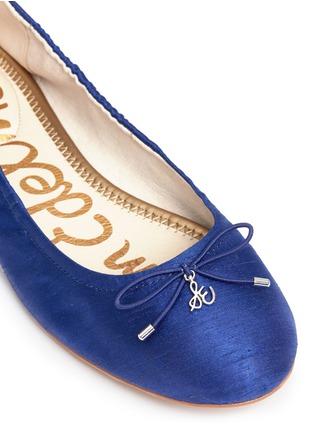 Detail View - Click To Enlarge - Sam Edelman - 'Felicia' textured satin ballet flats