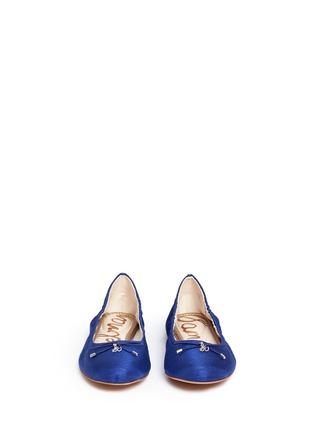 Front View - Click To Enlarge - Sam Edelman - 'Felicia' textured satin ballet flats