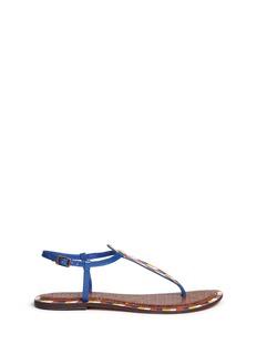 Sam Edelman'Gigi 5' chevron tribal print leather thong sandals