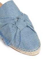 'Lynda' knotted bow denim espadrille slides