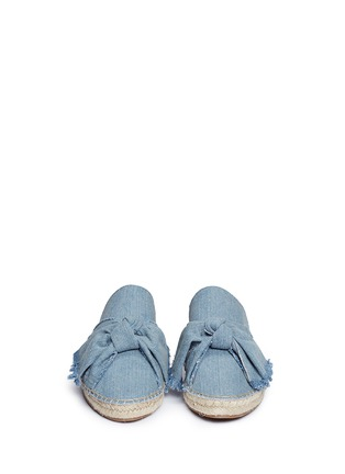 Front View - Click To Enlarge - Sam Edelman - 'Lynda' knotted bow denim espadrille slides