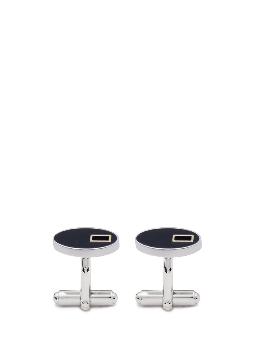 lanvin male oval cufflinks
