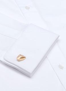 LanvinAbstract contour cufflinks