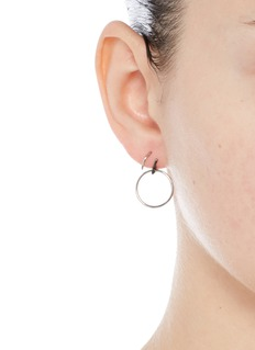 Maria Black 'Saga Medi' swirl hoop sterling silver earrings