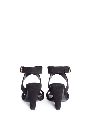 Back View - Click To Enlarge - Stella Luna - Turnlock D-ring ankle strap suede sandals