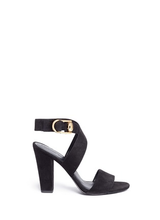 Main View - Click To Enlarge - Stella Luna - Turnlock D-ring ankle strap suede sandals