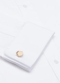 LanvinIrregular hexagon cufflinks