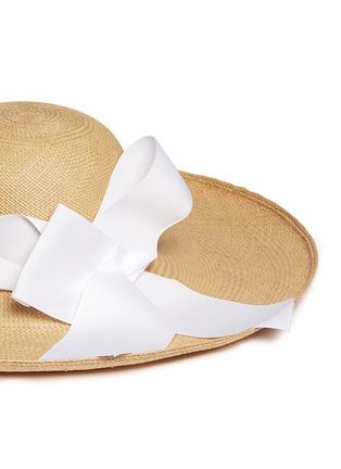 Detail View - Click To Enlarge - Sensi Studio - 'Lady Ibiza' twist bow toquilla straw sun hat