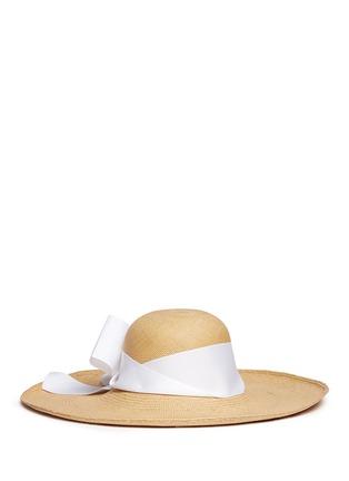 Main View - Click To Enlarge - Sensi Studio - 'Lady Ibiza' twist bow toquilla straw sun hat