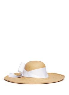 Sensi Studio'Lady Ibiza' twist bow toquilla straw sun hat