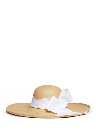 Figure View - Click To Enlarge - Sensi Studio - 'Lady Ibiza' twist bow toquilla straw sun hat