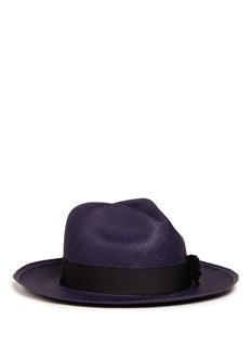 Sensi StudioGrosgrain ribbon band straw panama hat