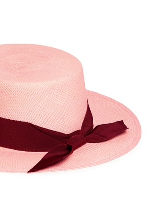 Detail View - Click To Enlarge - Sensi Studio - Toquilla straw boater hat