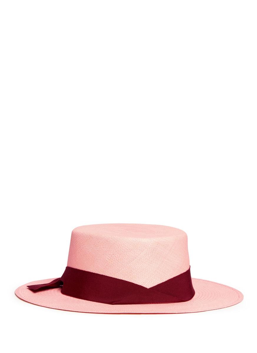 Toquilla straw boater hat by Sensi Studio