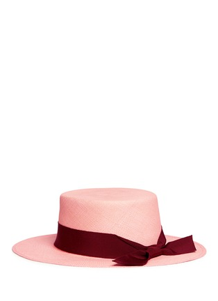Figure View - Click To Enlarge - Sensi Studio - Toquilla straw boater hat