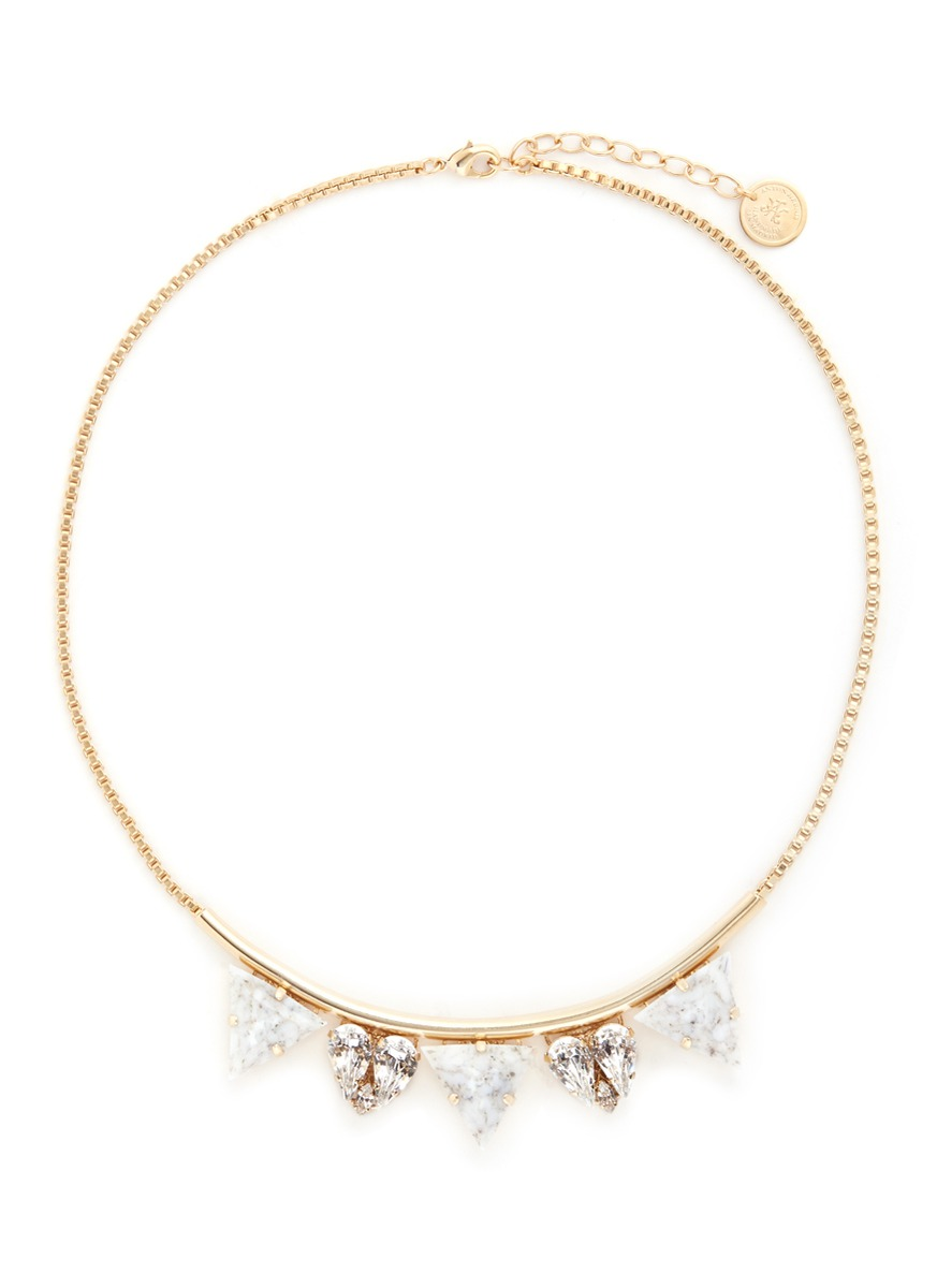 Swarovski crystal vintage stone necklace by Anton Heunis