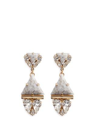 Main View - Click To Enlarge - Anton Heunis - Swarovski crystal vintage stone pendant earrings