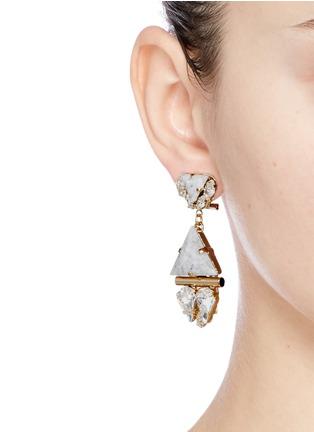 Figure View - Click To Enlarge - Anton Heunis - Swarovski crystal vintage stone pendant earrings