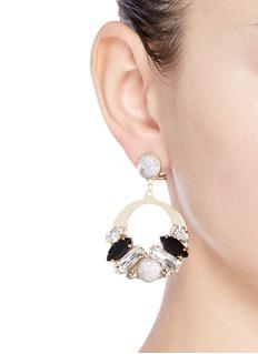 Anton HeunisVintage stone stud Swarovski crystal hoop earrings