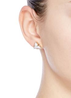 Anton HeunisVintage stone asymmetric stud earrings