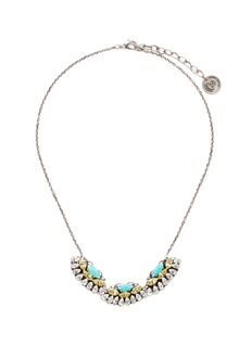 Anton Heunis Swarovski crystal fan charm necklace