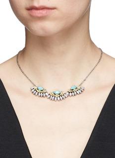 Anton HeunisSwarovski crystal fan charm necklace