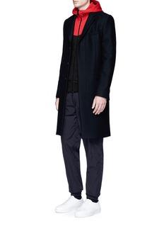 rag & bone'Precision' colourblock zip hoodie
